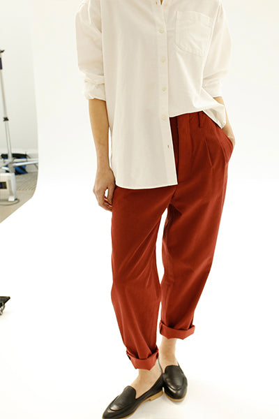 High Rise Loose Crop Pants