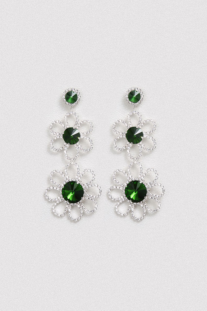 Flower Swarovski Crystal Earrings