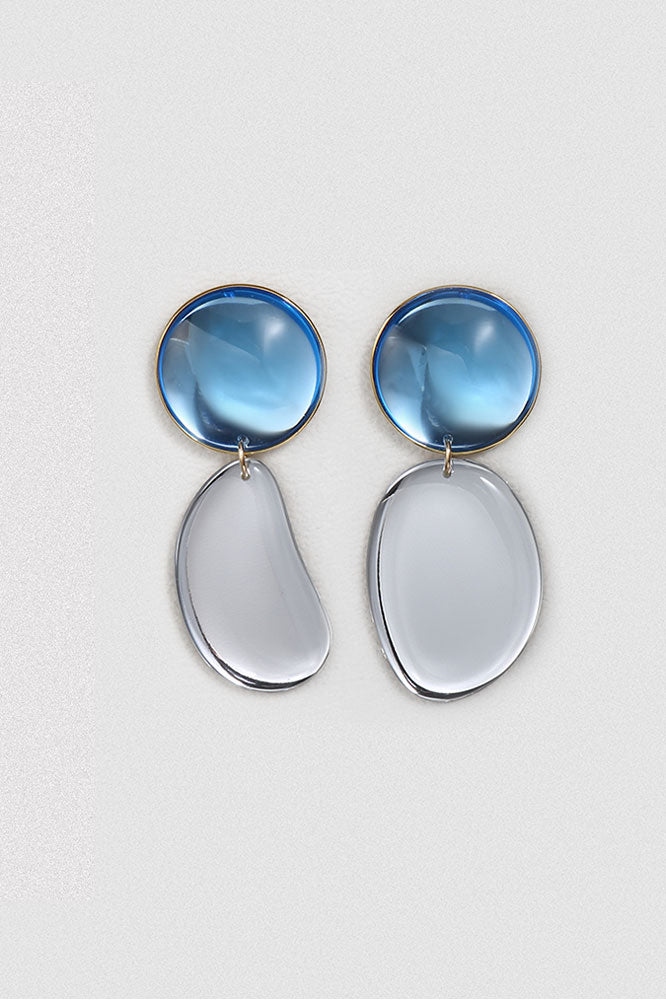 Asymmetrical Mirror Teardrop Earrings