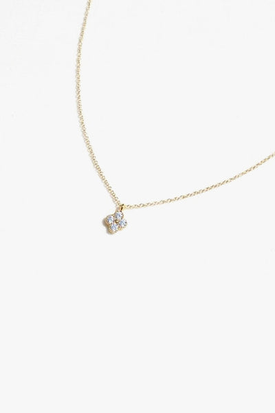 Pavé Cubic Zirconia Flower Pendant Necklace