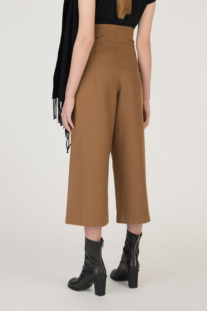 High Rise Crop Wool Pants