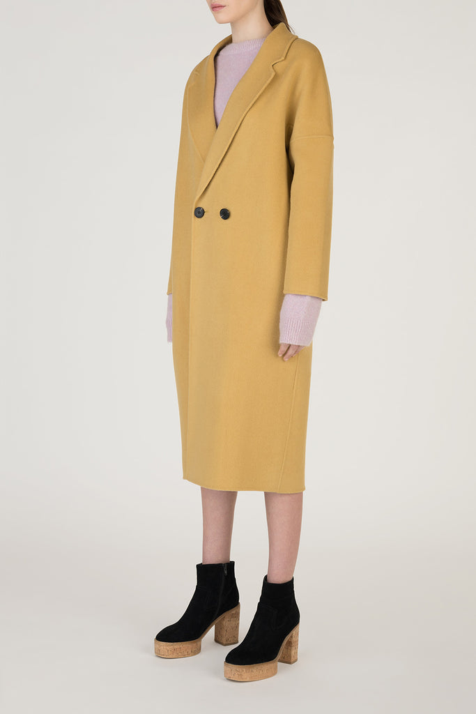 Wool Cashmere Mustard Coat