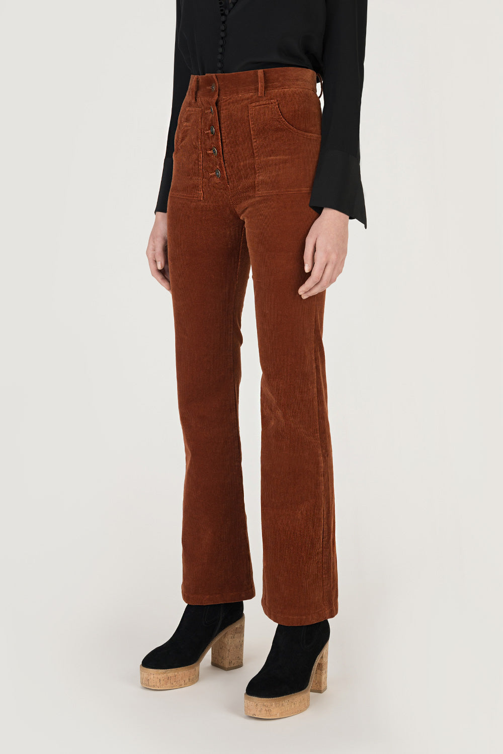 High Rise Flare Corduroy Jeans
