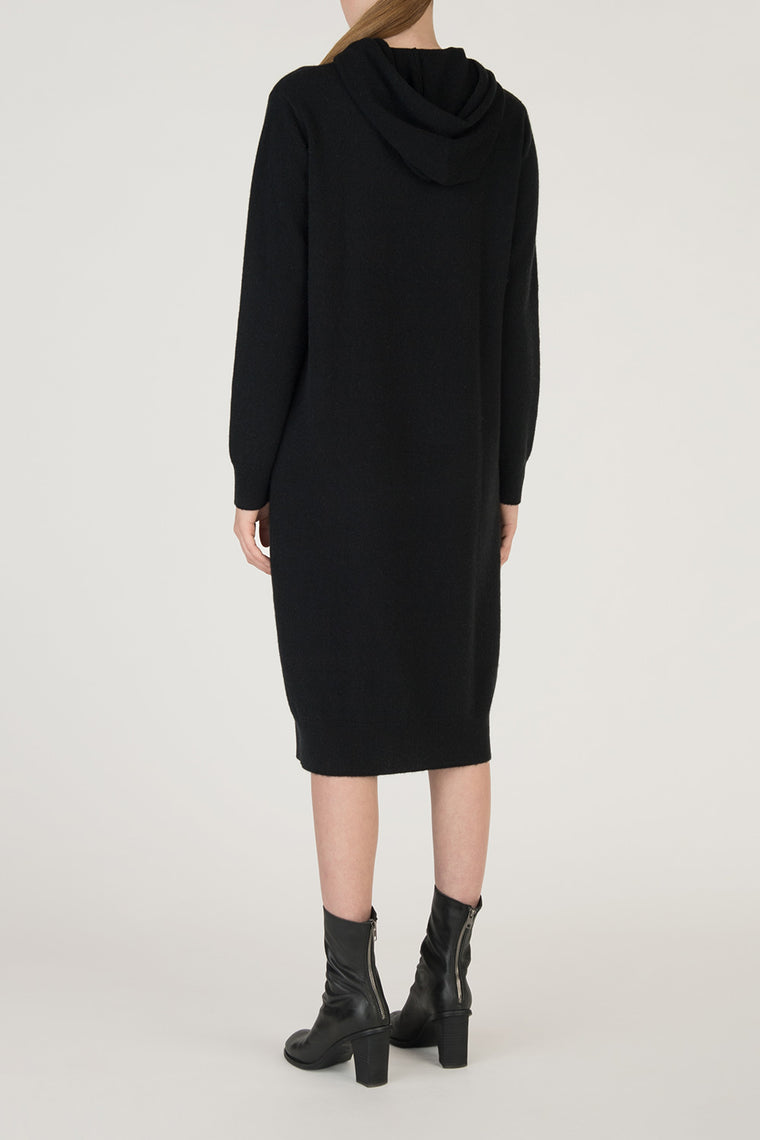 Wool Cashmere Hooded Pullover Dress
