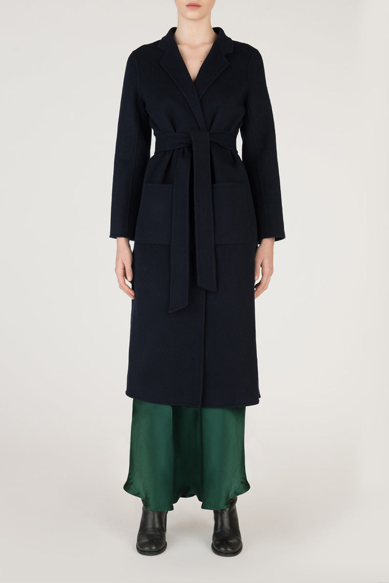 Slim Fit Wool Cashmere Coat