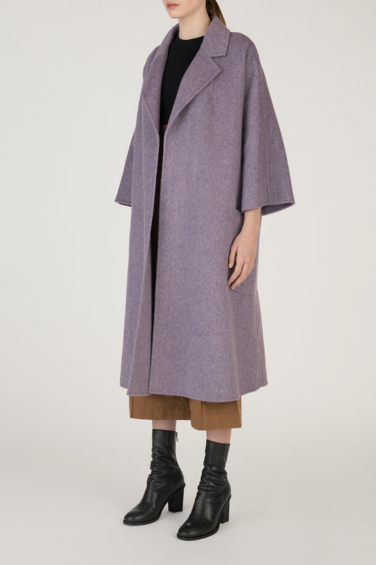 Oversized Crop Sleeve Wool Coat