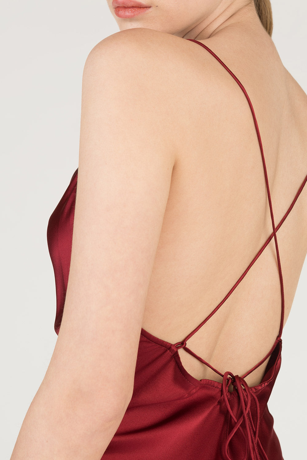 Open Back Silk Dress
