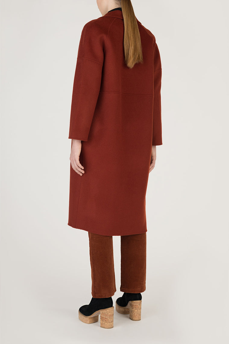 V-Neck Wool Cashmere Coat