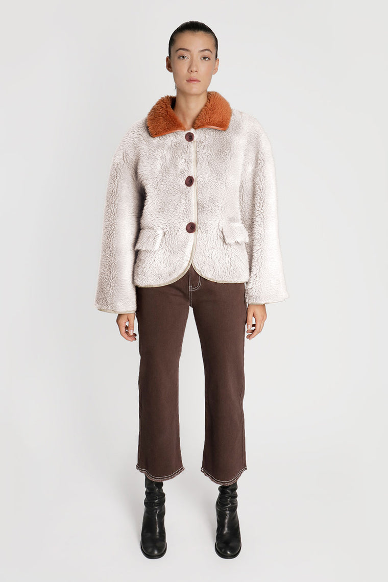 Oversized Shearling Coat