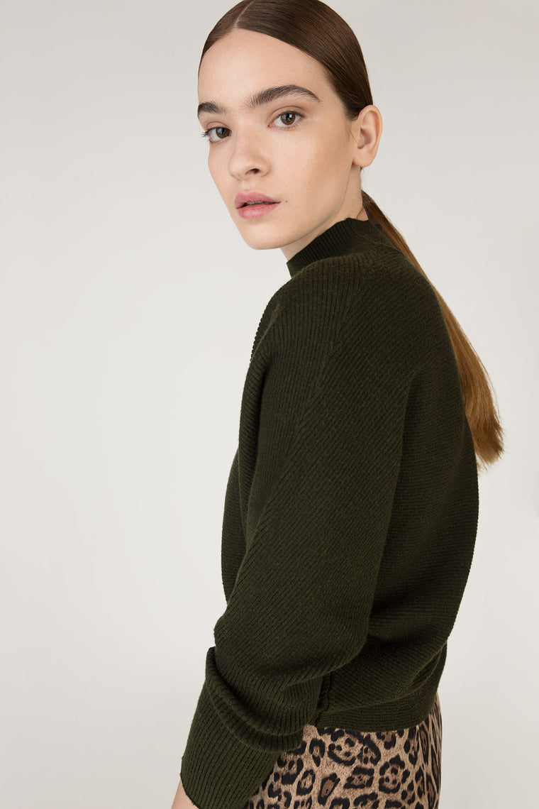 Crop Bat Sleeve Sweater