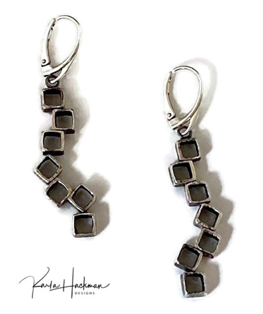 Stacked Cube Earrings