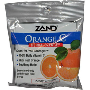 Zand Herbal Lozenge - Zesty Orange C - 15 Lozenges - Grateful Produce Box