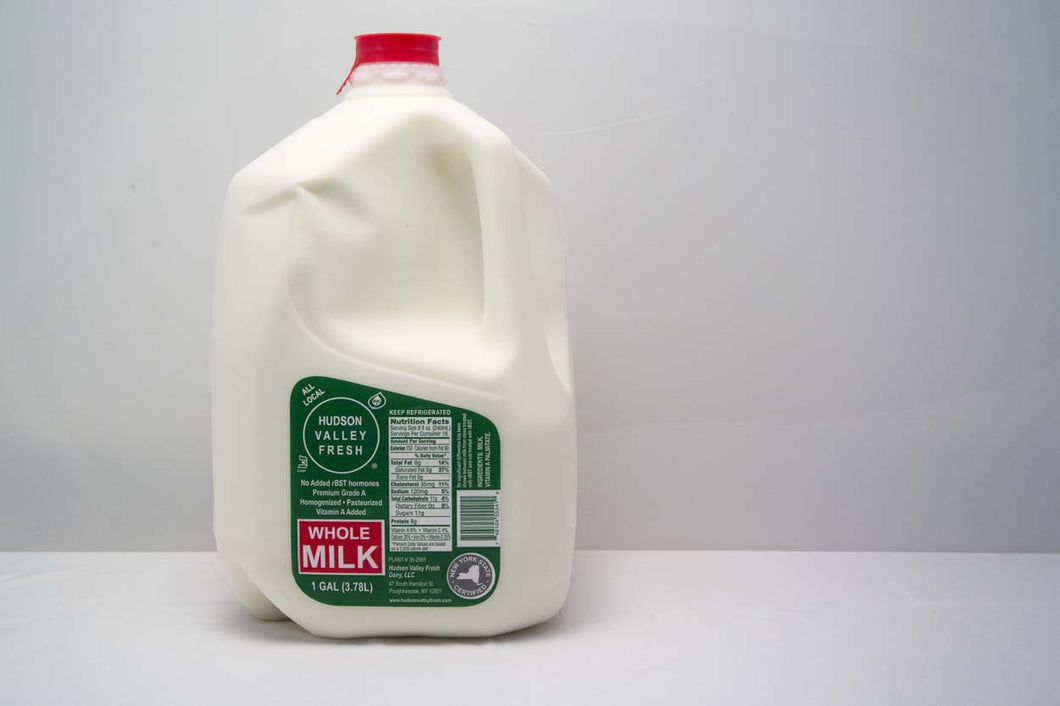 Premium Fresh Hudson Valley Whole Milk - 1 Gallon - Grateful Produce Box