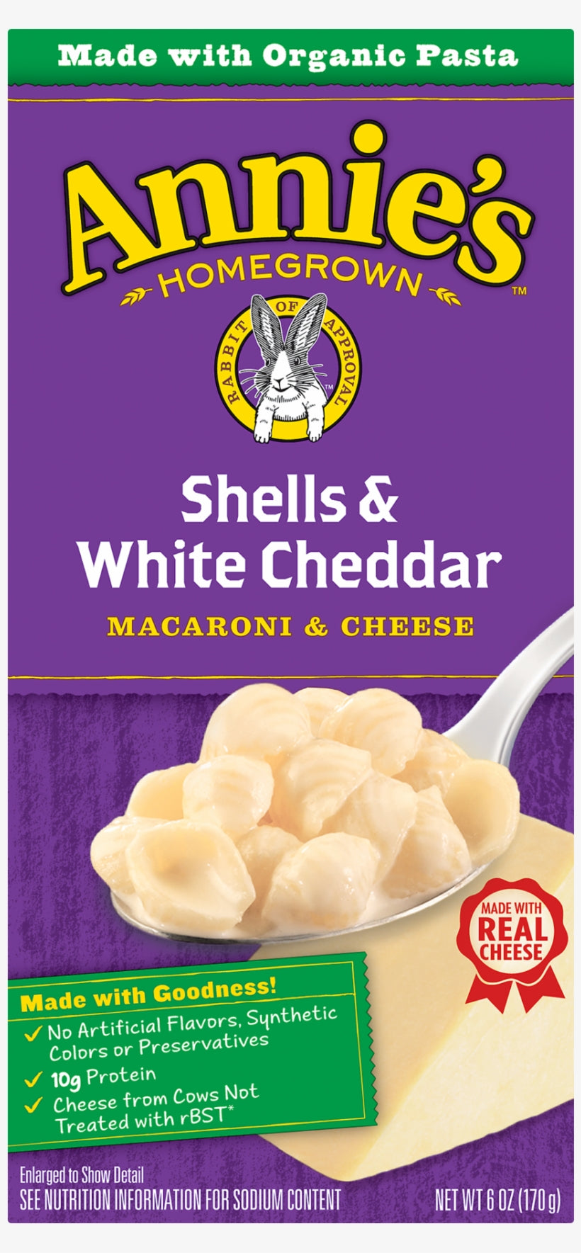 Organic Shells & White Cheddar Mac & Cheese (Annie's) - Grateful Produce Box
