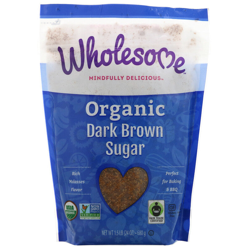 Organic Dark Brown Sugar (Wholesome) - Grateful Produce Box
