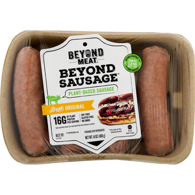 Beyond Meat Plant Based Sausage Brat Original - 14 oz - Grateful Produce Box