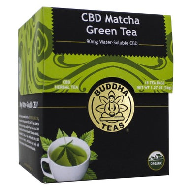 Buddha Tea - CBD Matcha Green Tea (18 Tea Bags) - Grateful Produce Box