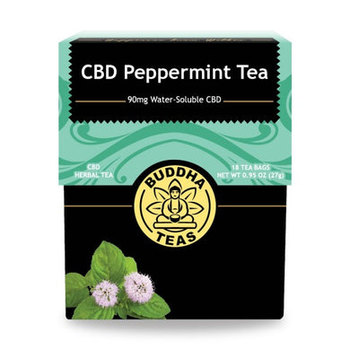 Buddha Tea - CBD Peppermint Tea (18 Tea Bags) - Grateful Produce Box