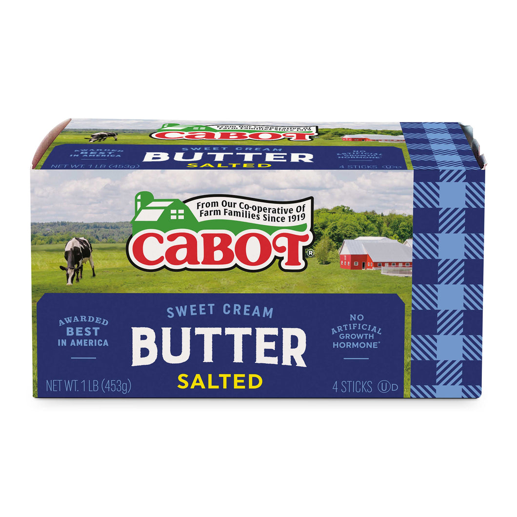 Cabot Salted Butter - 1 lb. - Grateful Produce Box