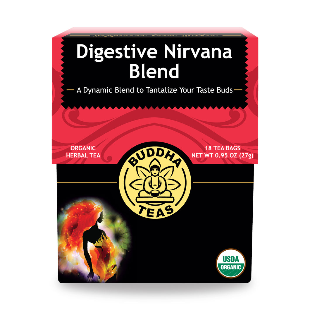 Buddha Tea - Digestive Nirvana Blend (18 Tea Bags) - Grateful Produce Box