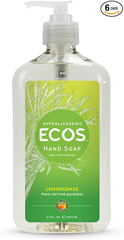 ECOS Hand Soap - Lemongrass (Hypoallergenic) - 17 oz - Grateful Produce Box