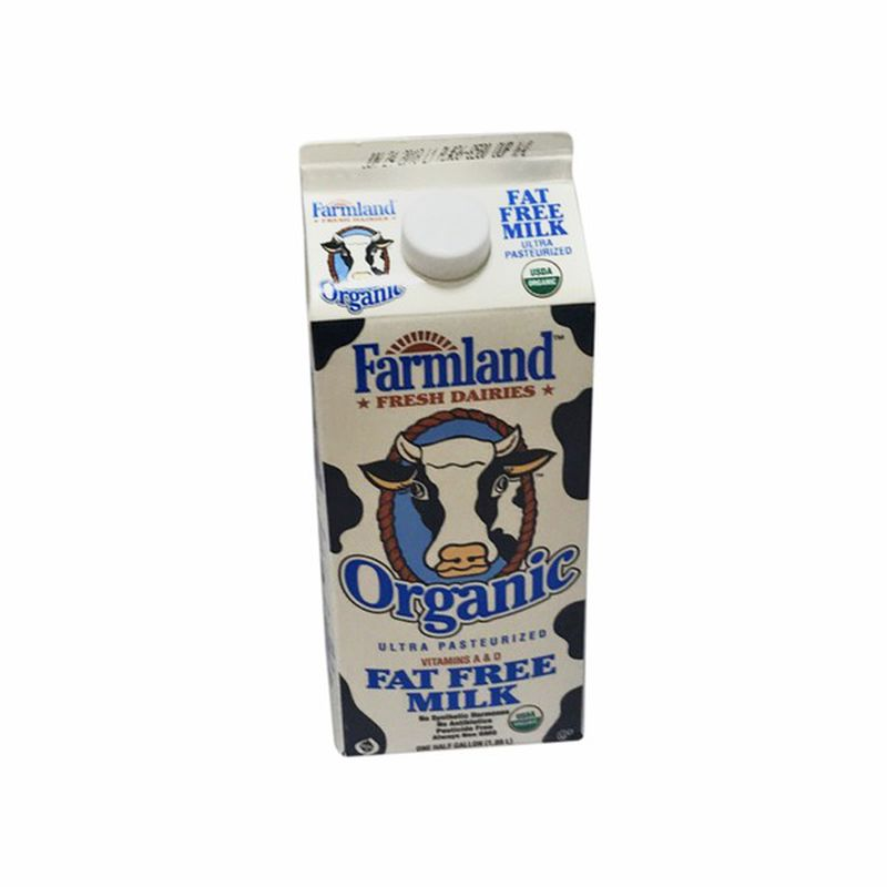 Organic Fat Free Milk - 1/2 Gallon - Grateful Produce Box