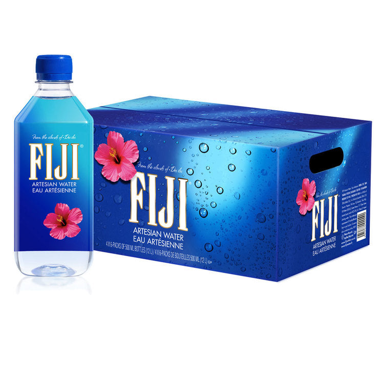 Fiji Water 500 mL Bottles - 24 Pack - Grateful Produce Box
