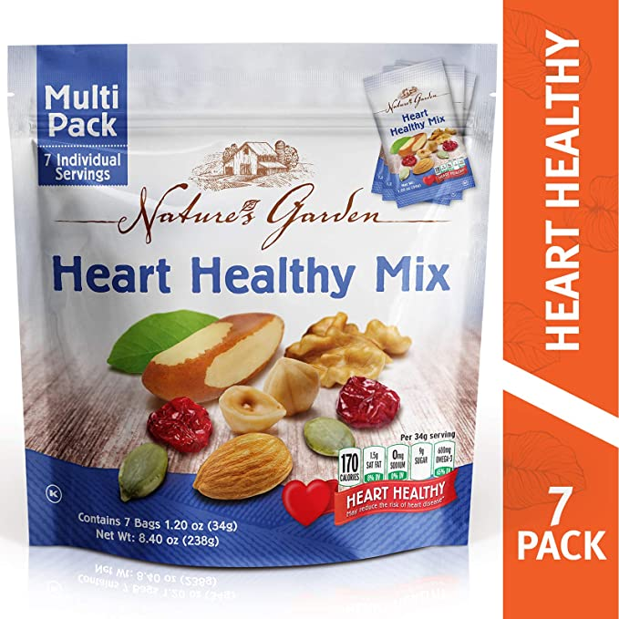 Nature's Garden Heart Health Mix - 7 Individual Servings - Grateful Produce Box