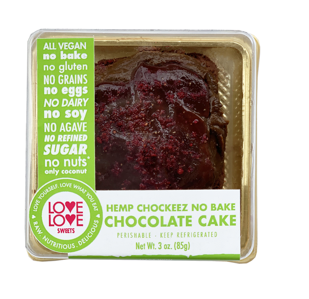 Love Love Sweets Hemp Chockeez Cake (Mini) - Grateful Produce Box
