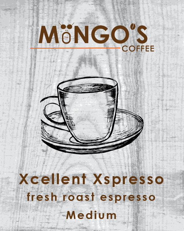 Mongo's Coffee Xcellent Xspresso Medium Roast (Ground) - 12 oz - Grateful Produce Box