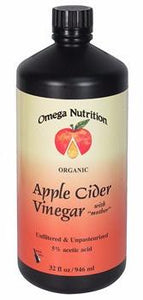 Apple Cider Vinegar - Omega Nutrition - 32 oz - Grateful Produce Box