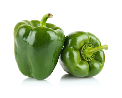 Organic Green Peppers - 4 Count - Grateful Produce Box