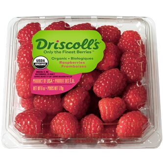 Organic Driscoll Raspberries - 1/2 Pint - Grateful Produce Box