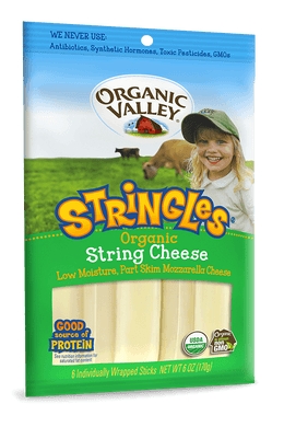 Organic Valley Stringles Mozzarella - 6 oz - Grateful Produce Box