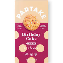 Partake Cookies - Birthday Cake Crunchy - 5.5 oz - Grateful Produce Box