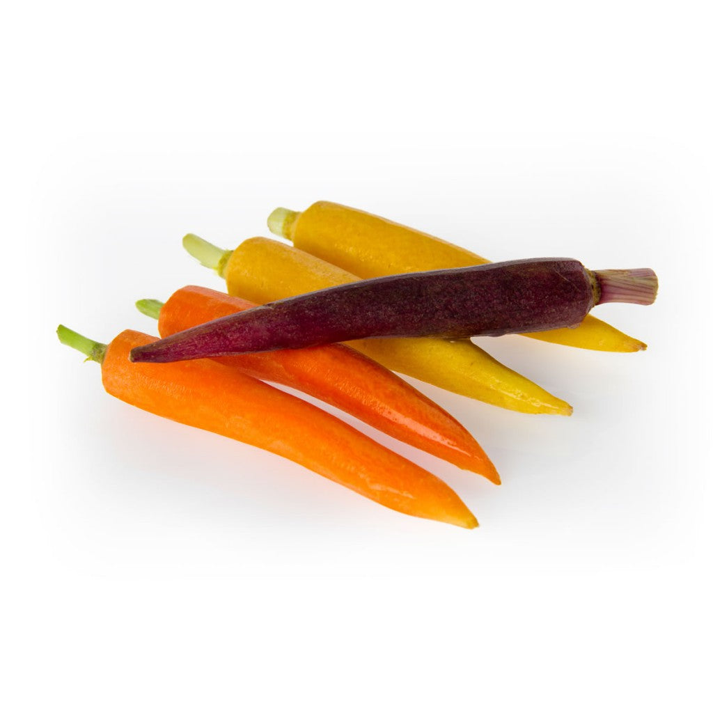 Peeled Rainbow Carrots 5lb - Grateful Produce Box