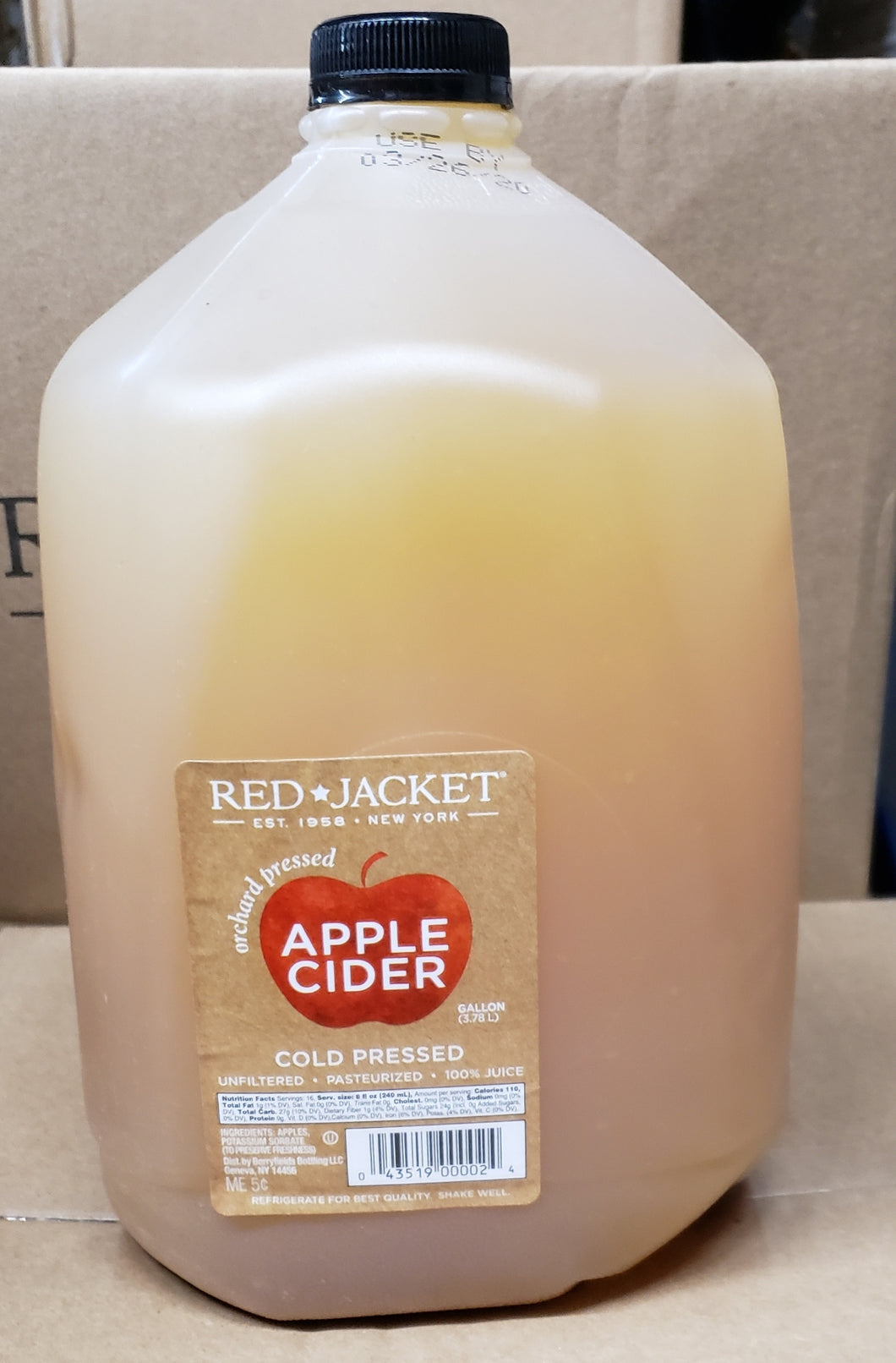 Red Jacket - Cold Pressed Apple Cider - 1 Gallon - Grateful Produce Box
