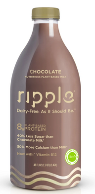 Ripple Foods Chocolate Milk (Non Dairy) - 48 oz - Grateful Produce Box