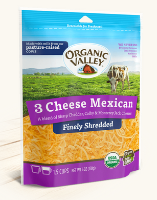 Organic Valley Shredded Mexican Cheese - Grateful Produce Box