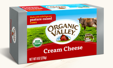Organic Valley Cream Cheese - 8 oz - Grateful Produce Box