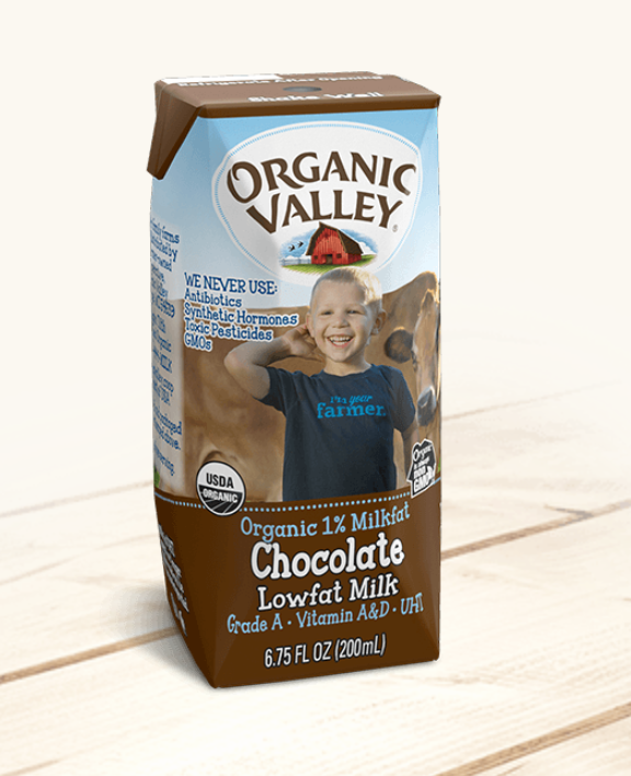 Organic Valley 1% Chocolate Milk - 6.75 oz - Grateful Produce Box