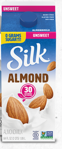 Silk Almond Milk Unsweetened- Half Gallon - Grateful Produce Box