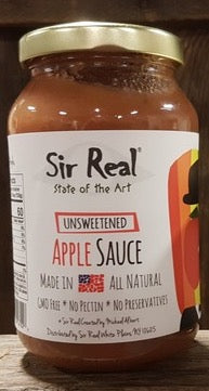 Sir Real Apple Sauce - Unsweetened - 16 oz. - Grateful Produce Box