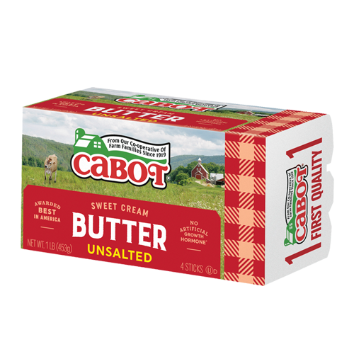 Cabot Unsalted Butter - 1 lb - Grateful Produce Box