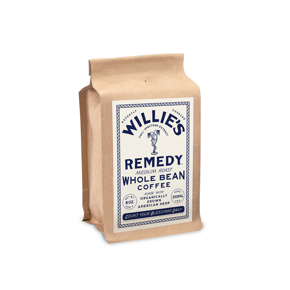 Willie Nelson's CBD Coffee - Medium Blend - Whole Bean Coffee - 8 oz. - Grateful Produce Box