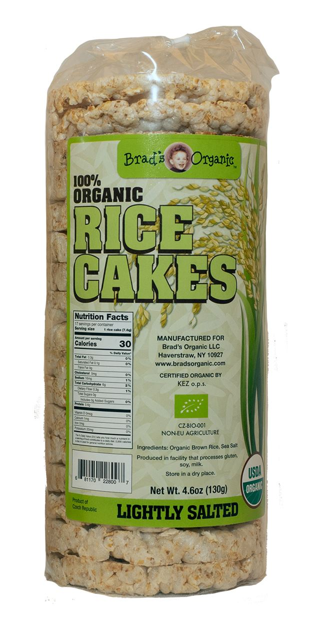 Organic Rice Cakes (Brad's) - Grateful Produce Box