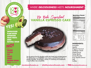 Love Love Sweets Espresso Vanilla Cake (Large) - Grateful Produce Box
