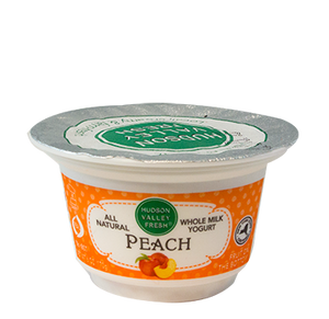 Premium Fresh Hudson Valley Peach Yogurt - 6 oz. - Grateful Produce Box