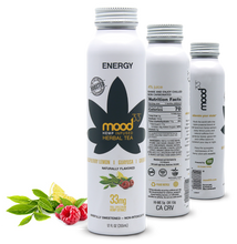 Load image into Gallery viewer, MOOD 33 Energy - Raspberry, Lemon, Guayusa, & Green Tea - 12 oz - Grateful Produce Box