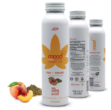 Load image into Gallery viewer, MOOD 33 Joy - Peach & Yerba Mate - 12 oz - Grateful Produce Box